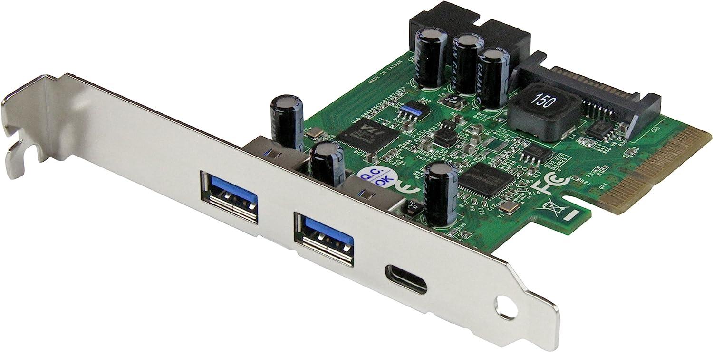 StarTech.com USB 3.1 PCIE Card - 5 Port - 1x USB-C - 2x USB-A - 1x 2 Port IDC - Internal USB Header Expansion - USB C PCIe Card (PEXUSB312EIC)