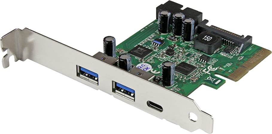 StarTech.com USB 3.1 PCIE Card - 5 Port - 1x USB-C - 2x USB-A - 1x 2 Port IDC - Internal USB Header Expansion - USB C PCIe Card (PEXUSB312EIC)