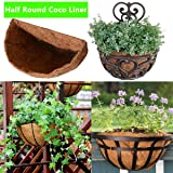 Half Round Coco Liner,Half Circle Wall Planter Coco Fiber Replacement Liners for Wall Hanging Baskets