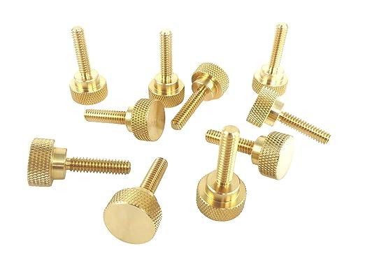 """10 pcs 3//8/""""-16 X 1/"""" Thumb Screws Spade Head Brass"""