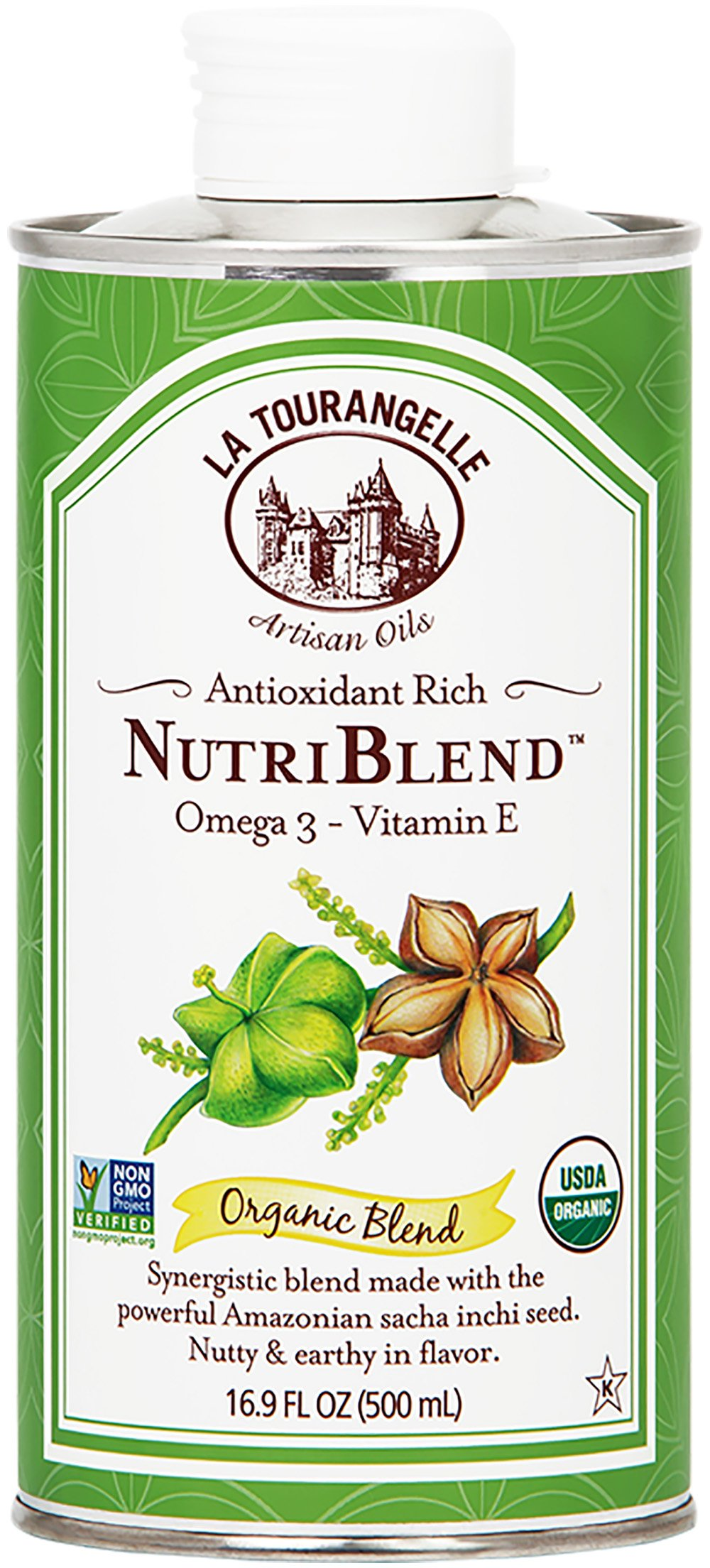 La Tourangelle Amazonian Nutriblend 16.9 Fl. Oz, Made from Amazonian Sacha Inchi Seed with Omega 3, Vitamin E, Nutty Flavor