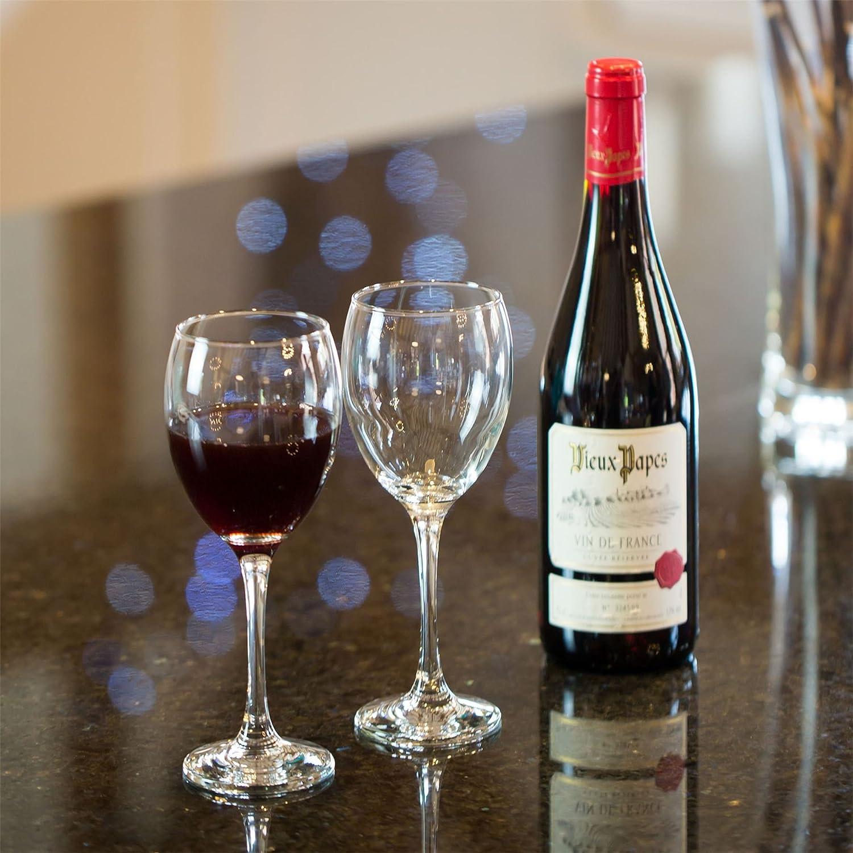 Lot de 24 Verres 340 ML Argon Tableware Verres /à vin Rouge