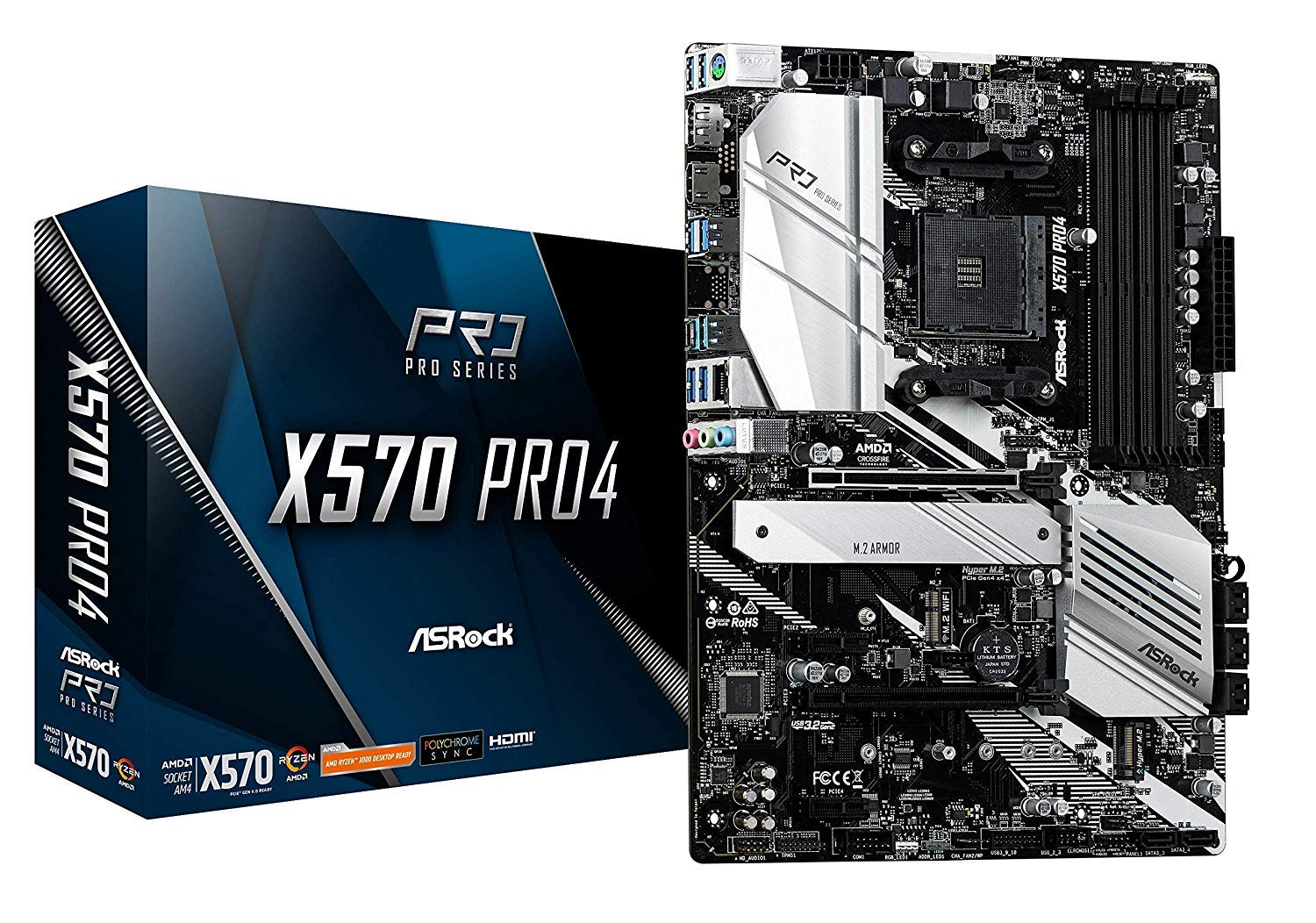 Asrock X570 Pro 4 Am4/4ddr4/hdmi/dp/atx Motherboard