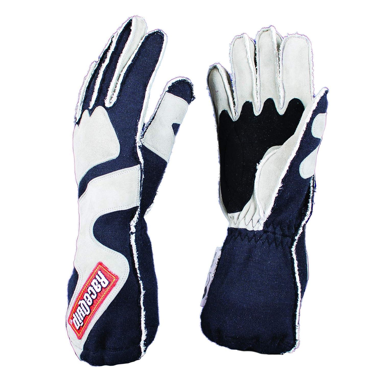 RaceQuip 356605 356 Series Outseam Standard Cuff Driving Gloves SFI 3.3//5 Gray//B