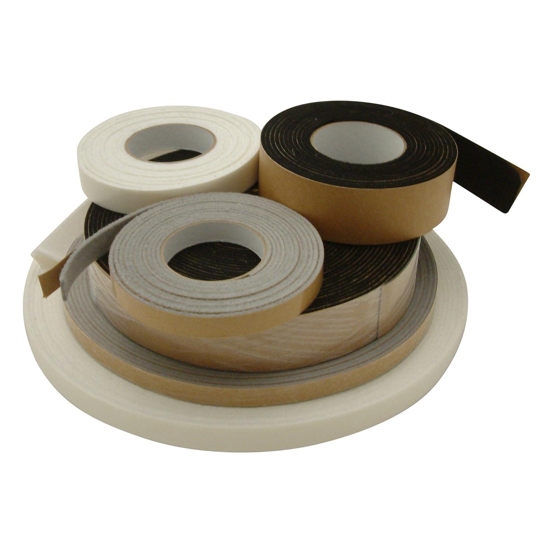 1 x 10 ft. J.V White Converting FELT-08//WI15 JVCC FELT-08 Polyester Felt Tape