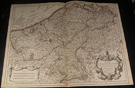 Map Of Northern France Belgium.Amazon Com Flanders Belgium North France 1704 Huge De L Isle Fine