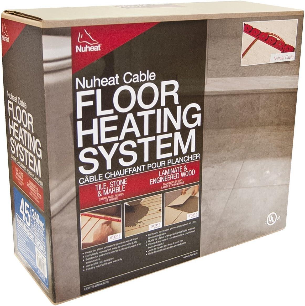 Nuheat Electric Floor Heat Cable Warming Floors 120V / 240V All Sizes/Models (N1C030 120V 30 SqFt Heat Cable)
