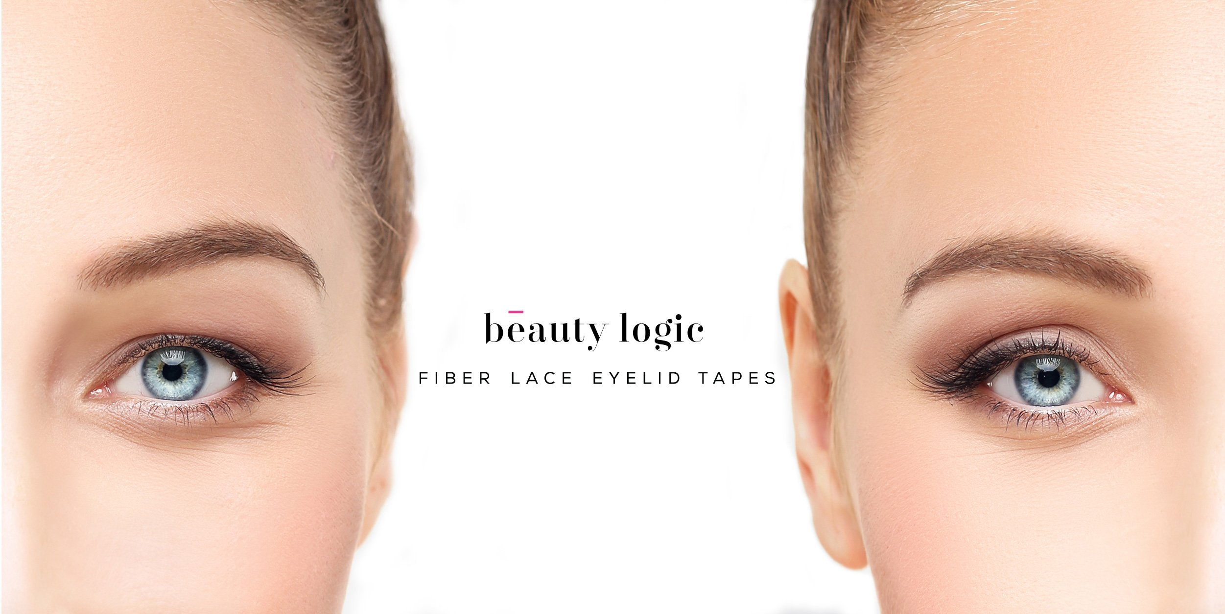 Beauty Logic Ultra Invisible Fiber Lace Eyelid Lift Kit - 120pcs (Medium) LATEX FREE-ONLY SELL FROM U.S.A! Double Eyelid Tape perfect for hooded, droopy, uneven, or mono-eyelids, NO GLARE GUARANTEED