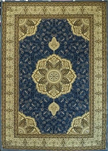 Elegance Traditional Area Rug Design 206 Sky Blue 8 Feet x 10 Feet 6 Inch