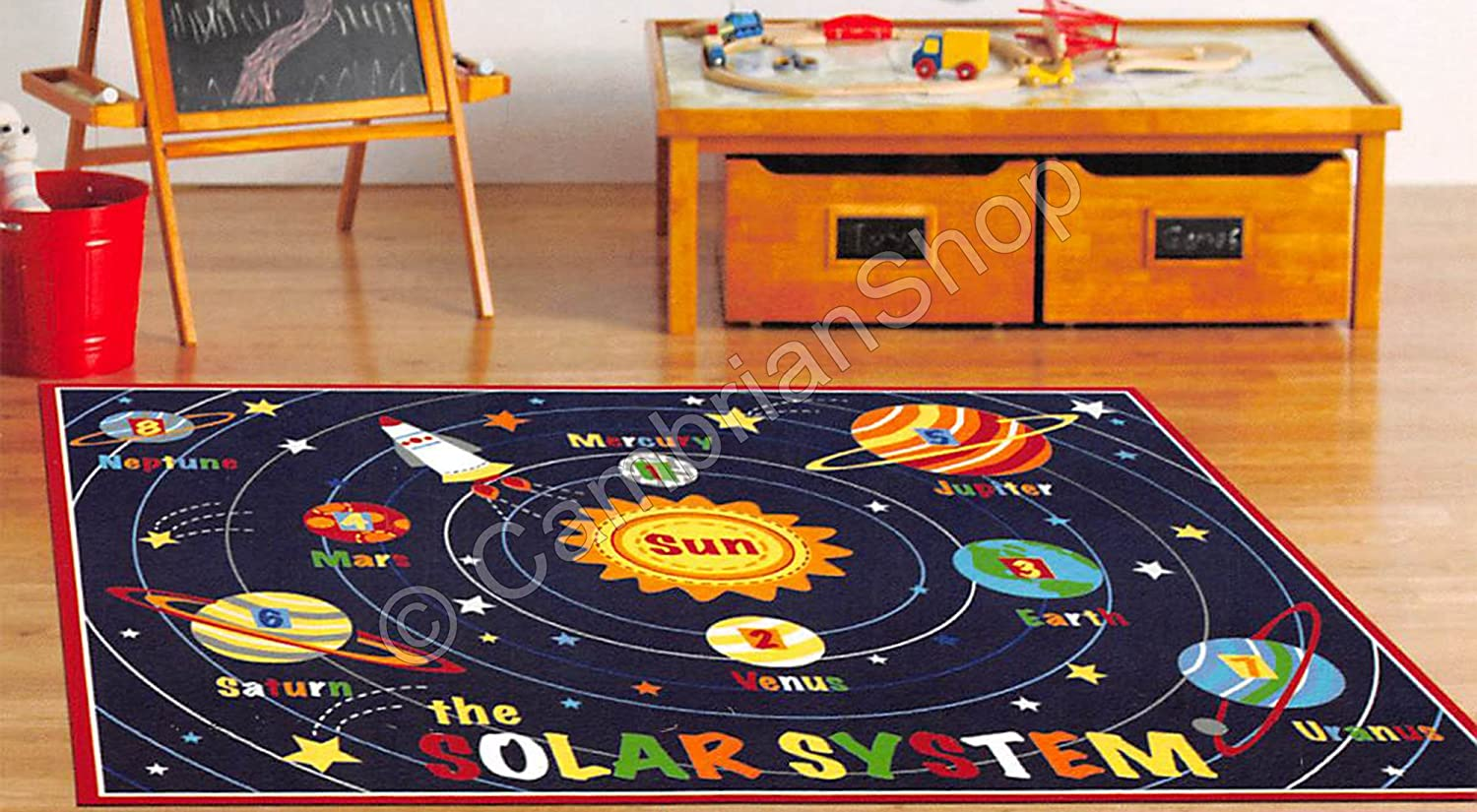 Smithsonian Teach Me Educational Kids Rug