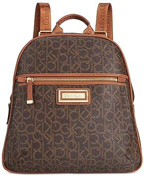 Calvin Klein - Bolso estilo cartera para mujer Marrón Brown/Khaki/Luggage 11-