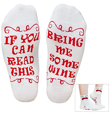 XIKEZAN Funny Wine Socks Birthday Gift Retirement Gifts For Women Mom W Saying If