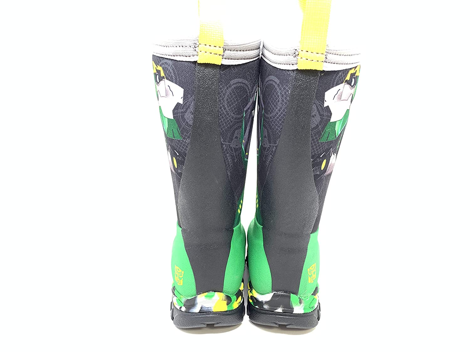 Muck Boot Boys Rugged II Transformers Grimlock Boots Size 1 Green
