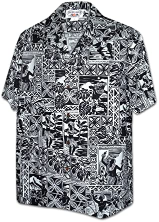 47ea1dd0 Amazon.com: Hula Blocks Pacific Legend Men's Aloha Shirts: Clothing