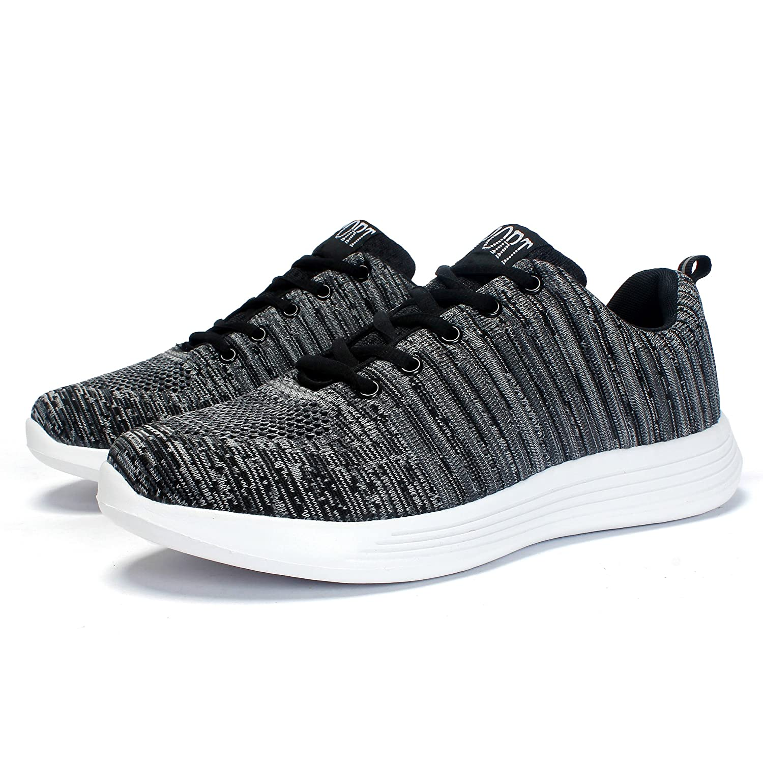 Amazon.com | Leaproo Women/Men Knit Sneakers Breathable Casual Lightweight  Athletic Mesh Road-Running Shoes | Road Running