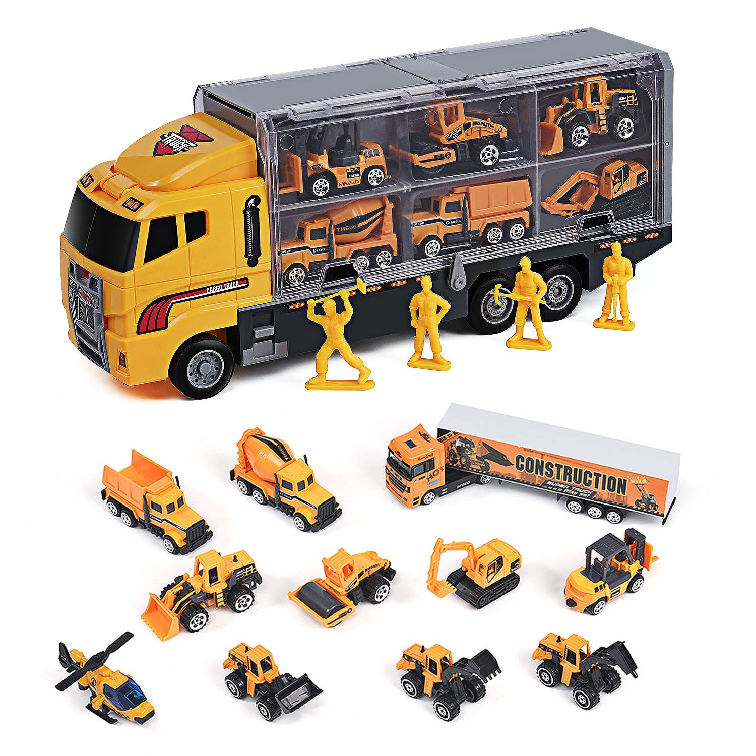 Amazon Com Toyard Toys For Boy And Girl Toy Truck Car 11 In 1 Die