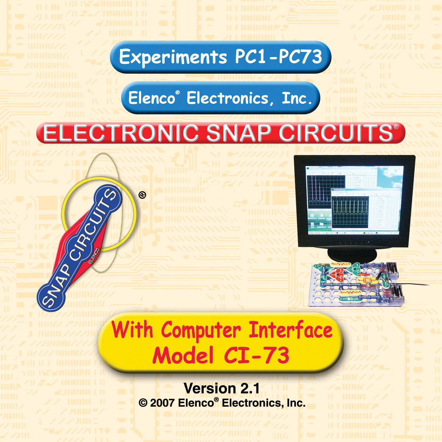 Snap Circuits Ci 73 Computer Interface Kit Toys Games Lights Electric Circuit Science By Elenco