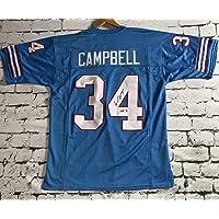 $89 » Earl Campbell Signed Autographed 'HOF 91' Houston Oilers Football Jersey - JSA COA