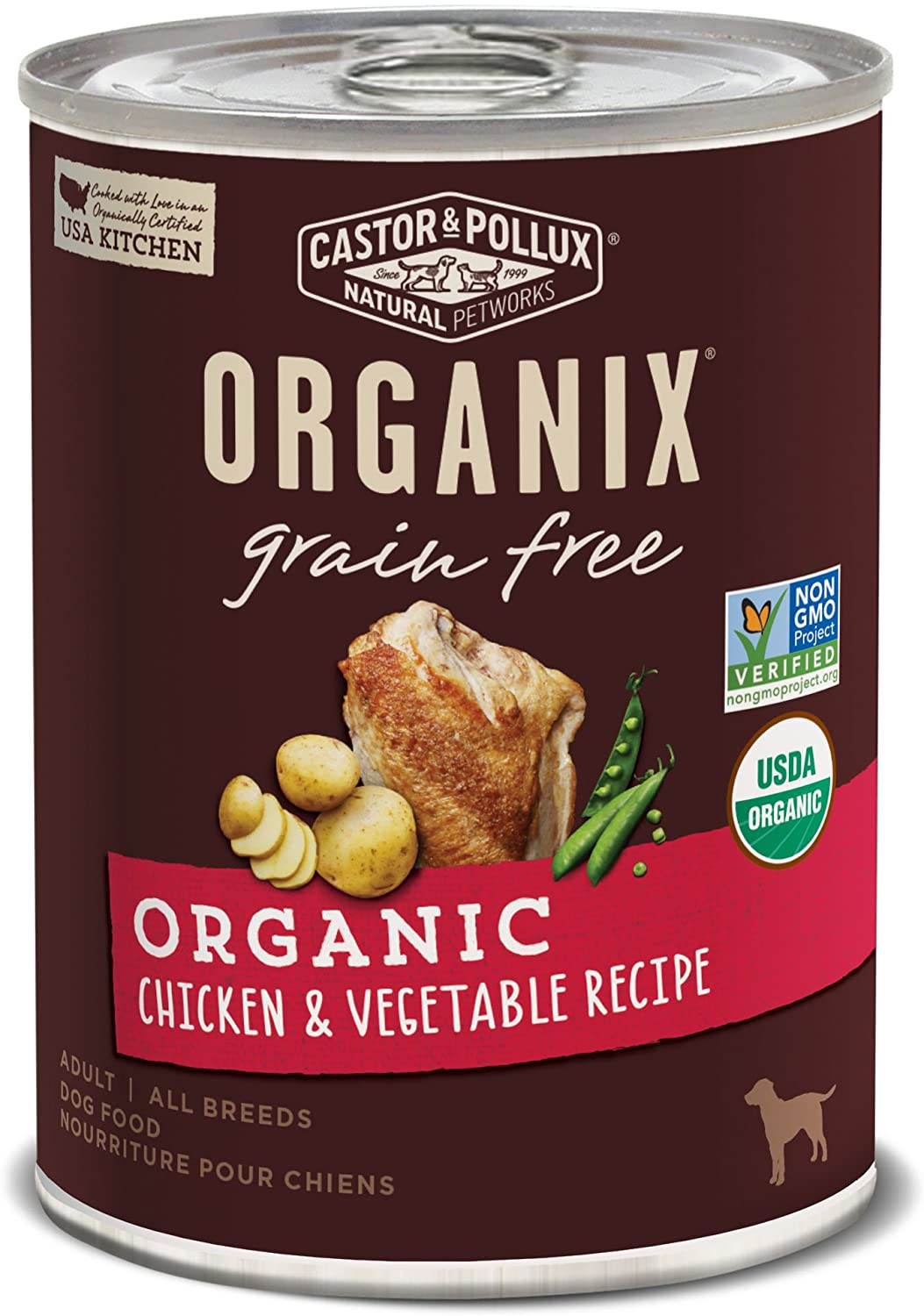 Castor & Pollux Organix Grain Free Canned Wet Dog Food (12) 12.7 oz Cans