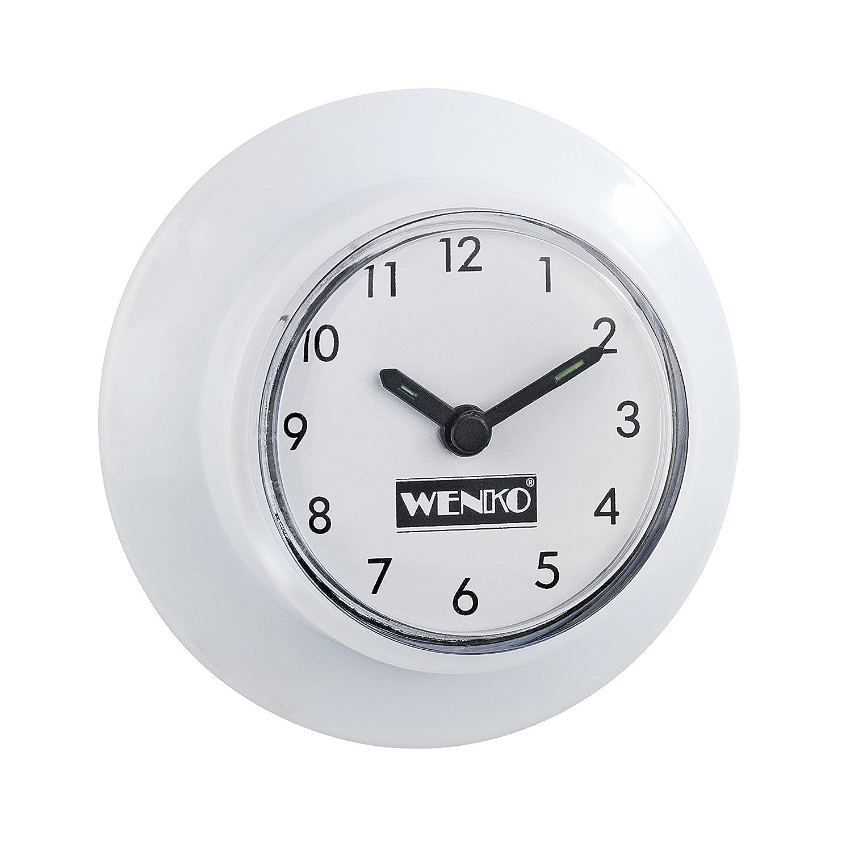 wenko 21823100 horloge pour salle de bains avec ventouse 2 pices - Pendule Salle De Bain