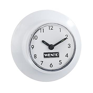 Wenko 21823100 Horloge Salle de Bains Ventouse, 2 pièces: Amazon.fr ...