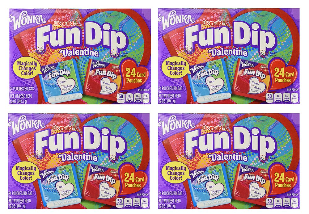 Amazon.com: Wonka Fun Dip iSerN Valentine Card & Candy Kit ...
