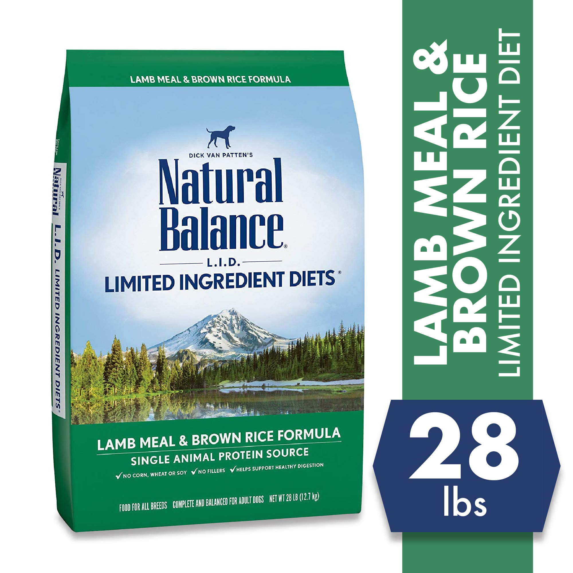 Natural Balance L.I.D. Limited Ingredient Diets Dry Dog Food, Lamb Meal & Brown Rice Formula, 28 Pound by Natural Balance