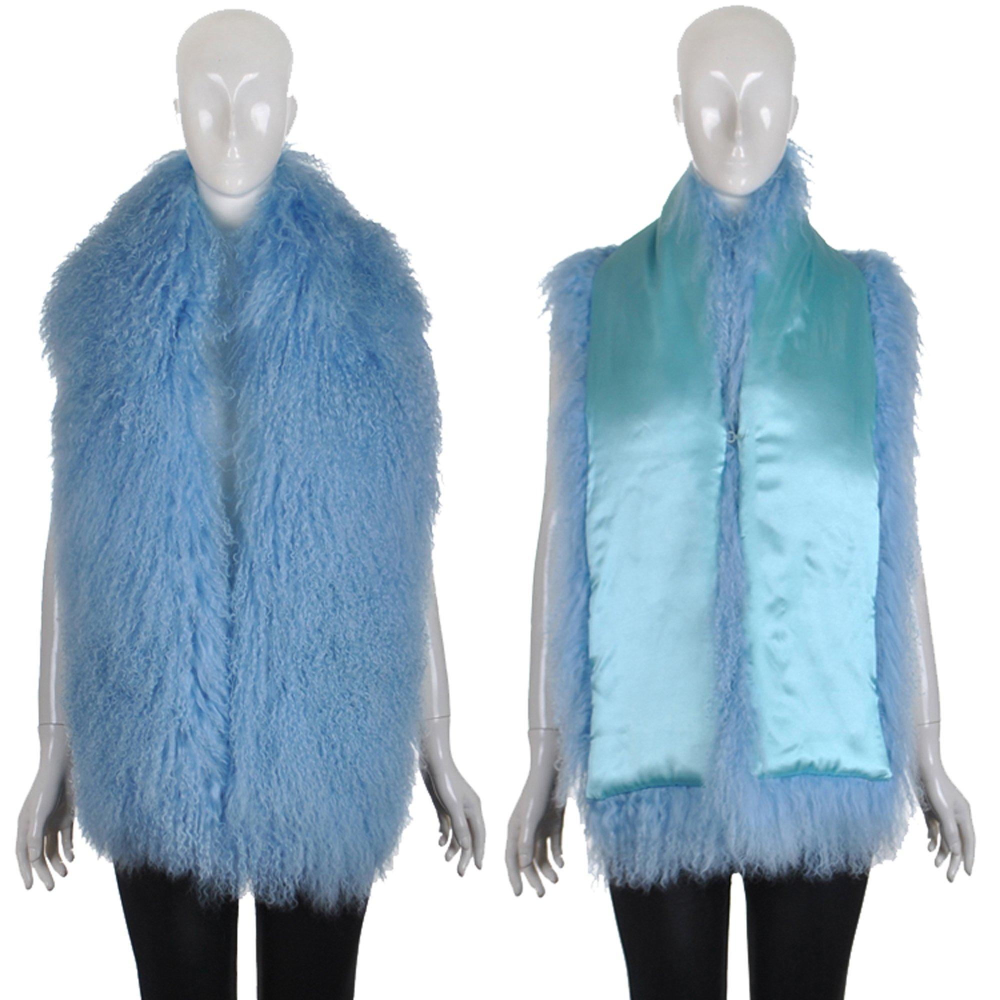 Ysting Women's Winter Scarf Wrap Large Beach wool Real Fur Collar Shawl Shrug Fluffy Collors (E)