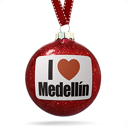 Christmas In Colombia South America.Amazon Com Neonblond Christmas Decoration I Love Medellin