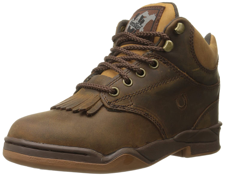 Roper Women's Horseshoe Kiltie Western Boot B002DR1R64 5 B(M) US|Chocolate