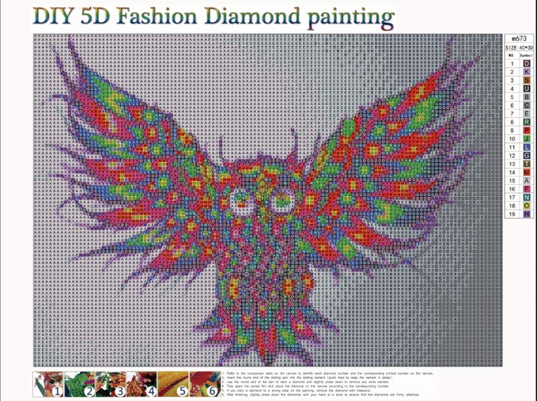 5D broderie diamant kit complet,diamant peinture,peinture par num/éros animaux Aigle DIY Strass /à broder au point de croix Arts Craft pour Home D/écoration murale Porcelet 40x30cm