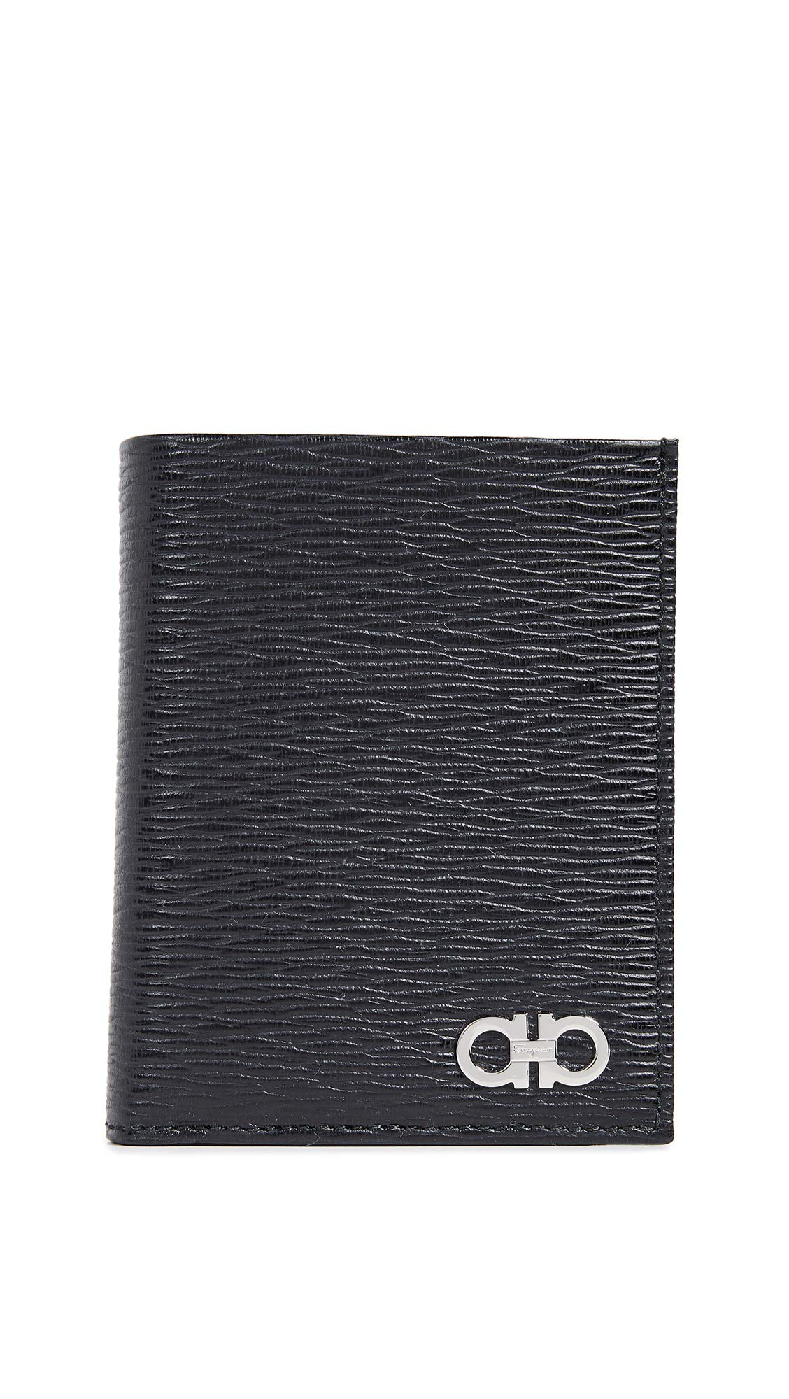 Salvatore Ferragamo Men's International Bifold Wallet, Black/Red, One Size
