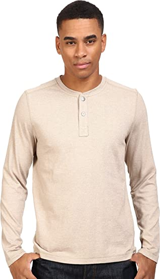 c43e3c4558e8 The North Face Men's Long Sleeve Copperwood Henley Dune Beige Heather  (Prior Season) Medium