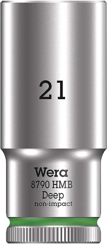 21.0 mm Verde Wera 05004543001 Chiave a Bussola 3//8