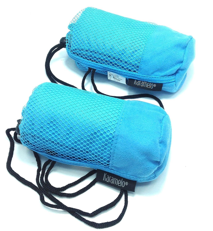 2 pcs toalla microfibra de secado rápido para viajes deporte gimnasio etc (Azul ) Karamelo home sl