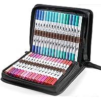 100 Colors Art Markers Set, Ohuhu Dual Tips Coloring Brush Fineliner Color Marker Pens, Water Based Marker for…