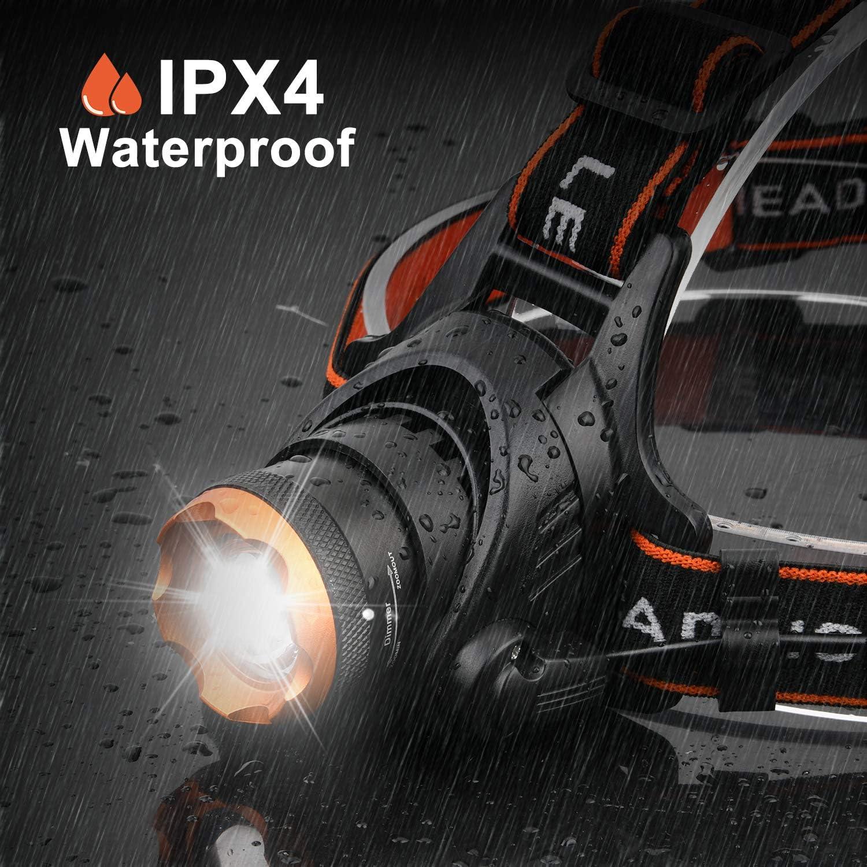 Nacht Lauflicht Lampe,BEINHOME USB LED Lampe Brust Lauflicht mit R/ücklicht,3 Modi,IP65 wasserdicht,Hochsichtbares Licht Bis zu 250 Lumen Nacht Sport Lauflicht f/ür Laufen Joggen Hund Spazieren Camping