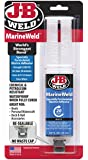 J-B Weld 50172 MarineWeld Marine Adhesive Epoxy Syringe - Dries White - 25ml