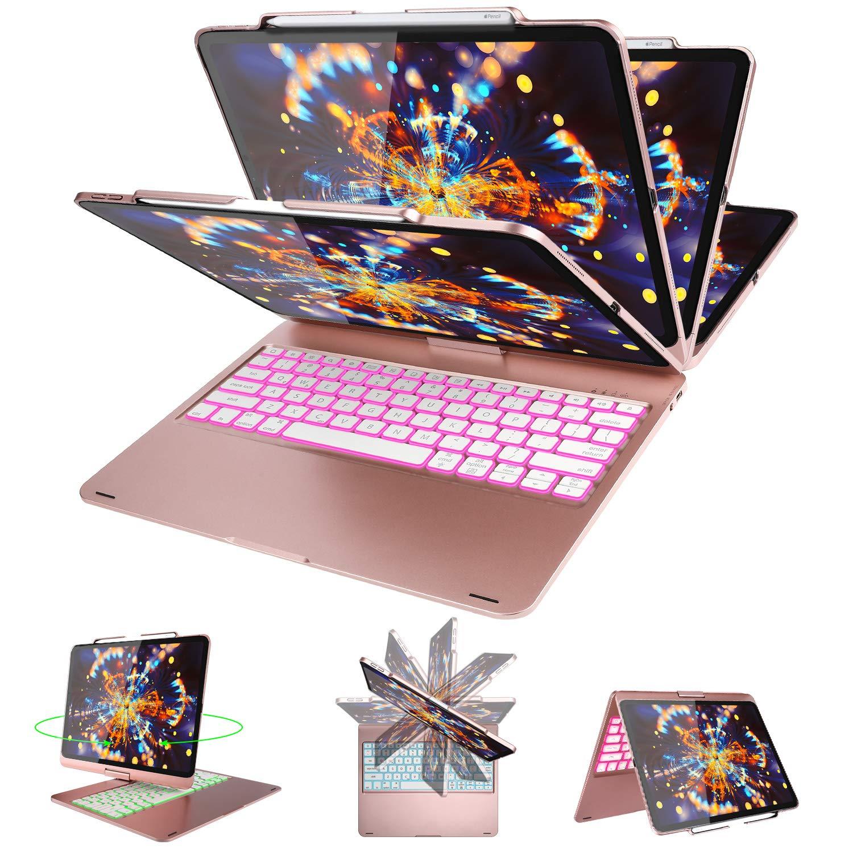 売れ筋商品 ELTD キーボードケース ELTD iPad Pro モデル 12.9 2018-360°回転 アルミシェルカバー (自動ウェイク/スリープ機能) Pro 7色バックライト付きワイヤレスキーボード iPad Pro 12.9 モデル A1876 A2014 A1895 A1983用 ローズゴールド B07QCYVXC1, 鎌ヶ谷市:7aef8f21 --- a0267596.xsph.ru