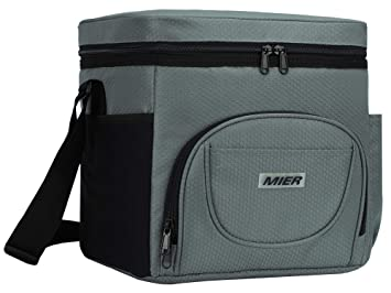 750f223ddc80c MIER Large Insulated Lunch Bag Picnic Soft cooler Bag for Men, Women,  Adults, Leakproof Cooler, 24 Can, Olive Green