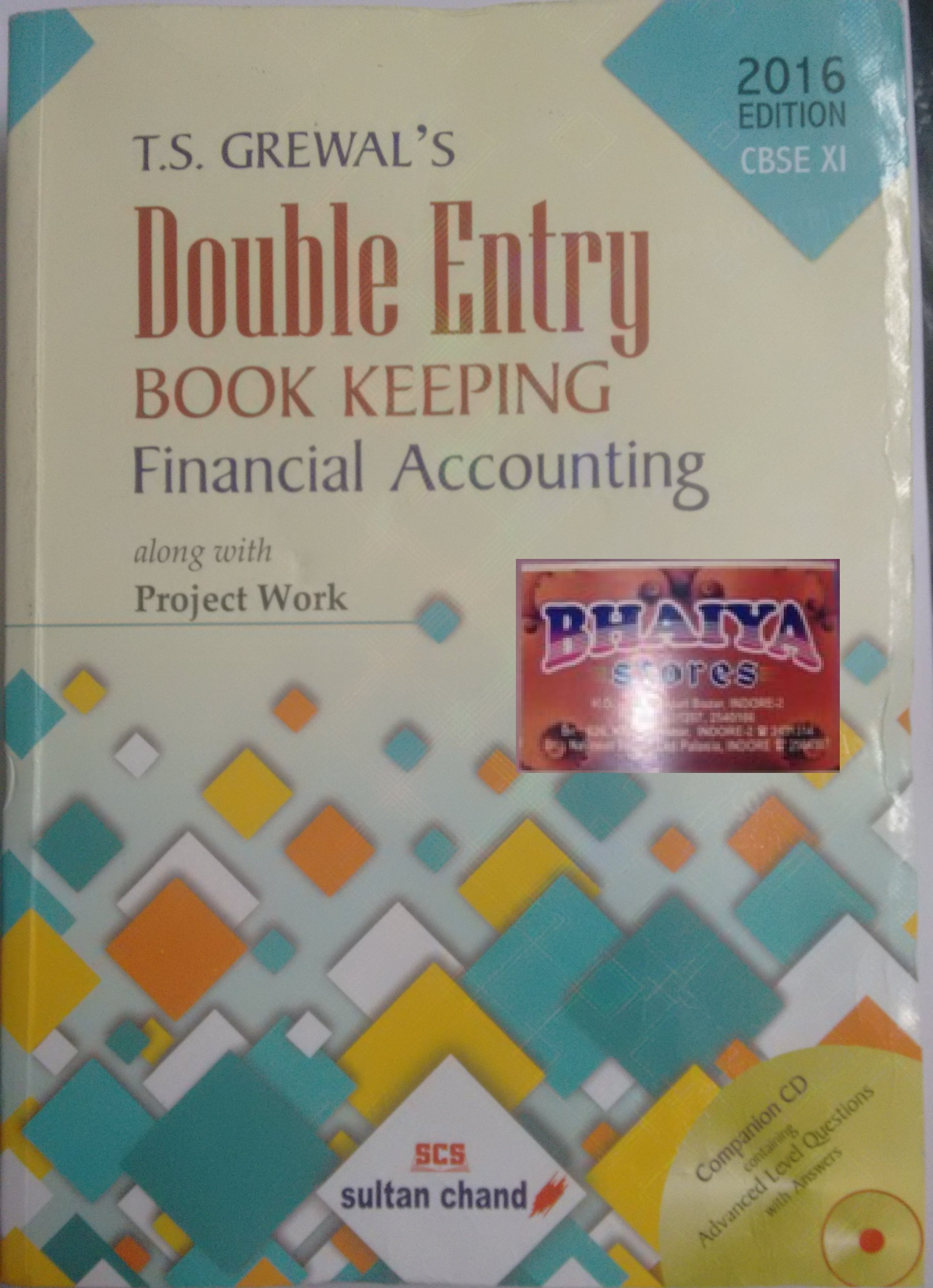 T.S. Grewal's Double Entry Book Keeping: Financial Accounting - Class 11:  Amazon.in: T.S. Grewal: Books