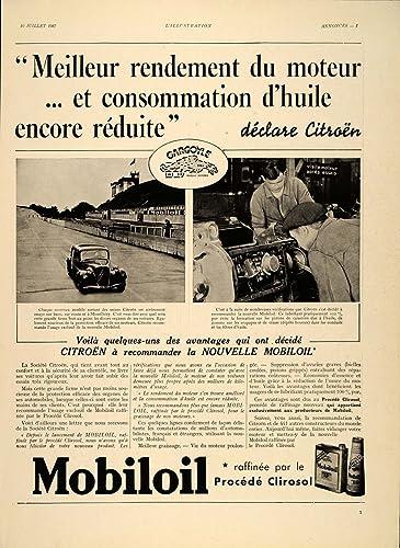 Amazon.com: 1937 French Ad Mobil Oil Gargoyle Mobiloil BB ...