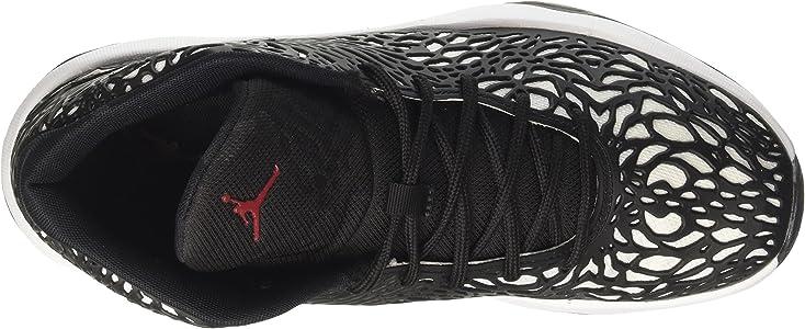 c067637bab469 Jordan Mens Jordan Ultra.Fly White/Gym Red Black Basketball Shoe 10.5 Men US