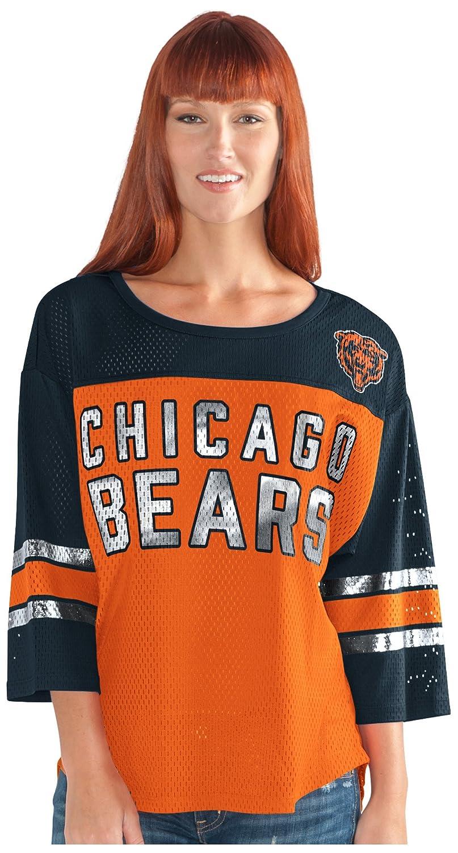 最初チームメッシュトップ B073ZSKQB2 Large|オレンジ/ネイビー|Chicago Bears オレンジ/ネイビー Large