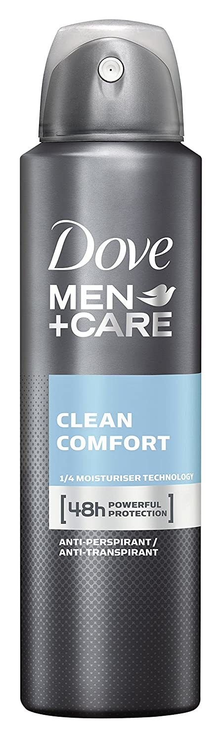 Dove Men+Care Deospray Clean Comfort Anti-Transpirant für Männer, 3er Pack (3 x 150 ml) 8712561255509