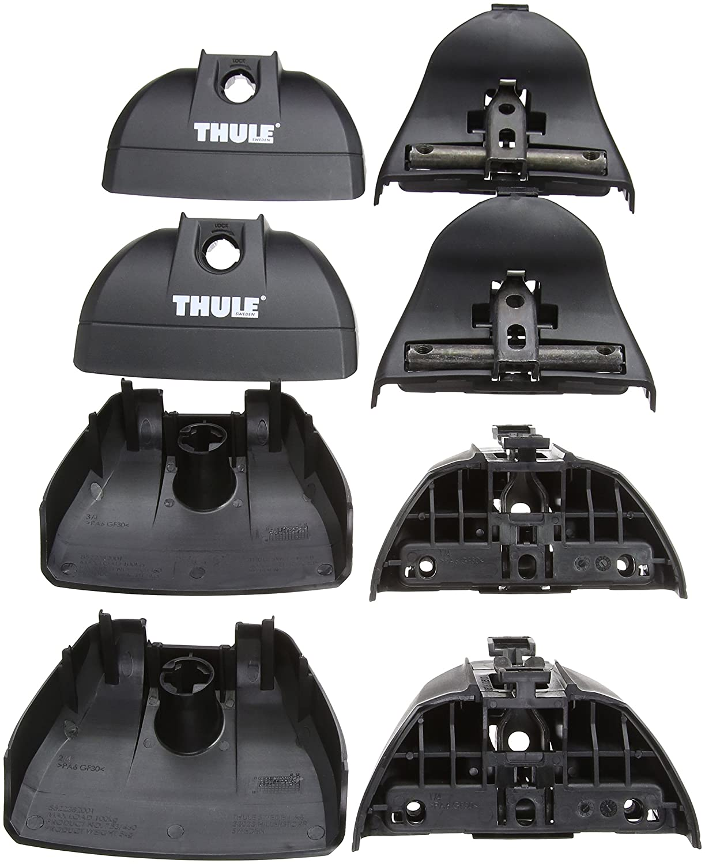 Thule 141400 1400 Rapid Fitting Kit-Black Set of 4