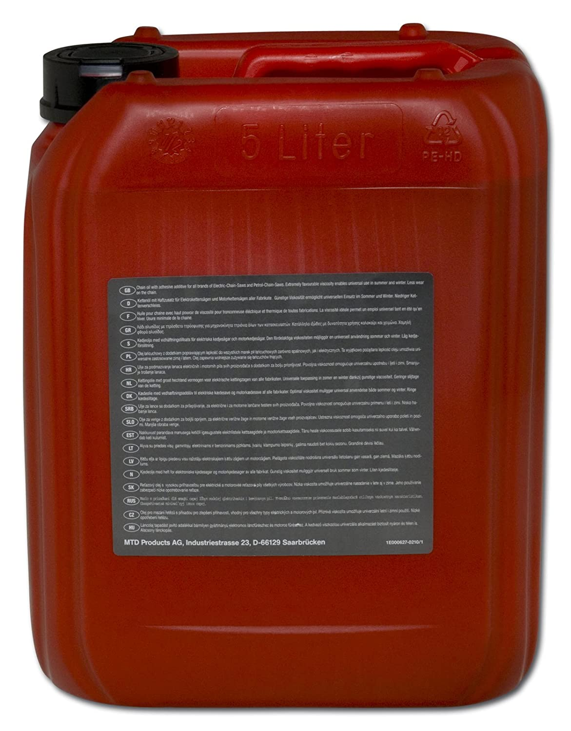 Arnold 6012-x 1-0042 MTD Chainsaw Oil 5 Litres Mineral 6012-X1-0042