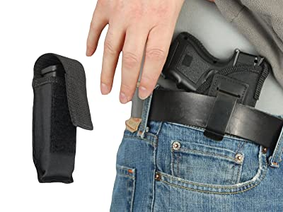New Barsony IWB Holster + Single Magazine Pouch for Compact, Sub-Compact 9mm 40 45