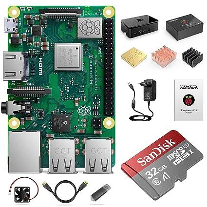 YABER Raspberry Pi 3 Modelo B+ - Kit de Arranque Completo ...