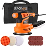 TACKLIFE 5-Inch Random Orbit Sander, 6 Variable Speed 13000RPM Electric Sander, 10 Pcs Sandpapers, 3 Polishing Kit…